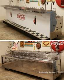 Stunning 12ft Coca Cola Stainless Double Soda Fountain
