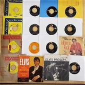 Elvis 45 rpm Records EPs Promos  Picture Sleeves