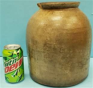 H Tobacco / Snuff Stoneware Crock / Jar