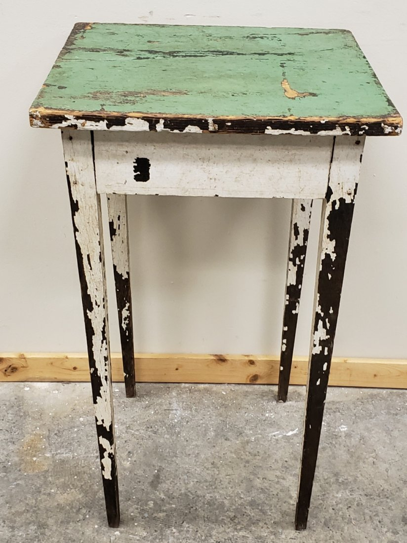 Small Primitive Table with tapered legs