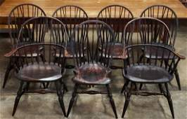 Set of 7 Jeff Trapp Windsor Chairs