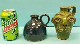 Stanley Ferguson Face Jug & small jug pottery