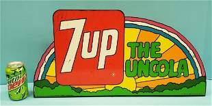 1971 7up Rainbow Flange Sign