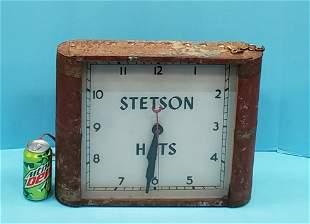 Stetson Hats Light Up Clock
