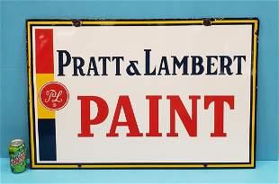 Pratt & Lambert Double Sided Porcelain Sign