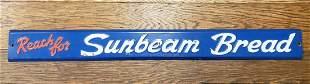 Embossed Sunbeam Bread Door Push Sign