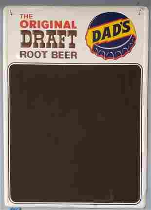Dad's Root Beer Chalk Menu Board