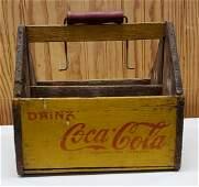 Coca Cola Wood Six Pack Bottle Carrier