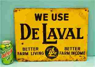 We Use De Laval tin sign