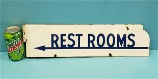 Porcelain Rest Rooms Flange Sign