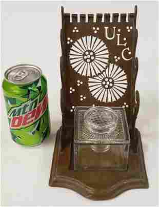 1800's United Letter Carrier Inkwell stand