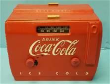 1950's Coca Cola Cooler Radio