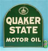 1951 NOS Quaker State Motor Oil Double Sided Sign