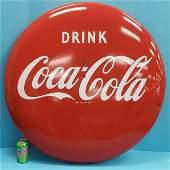36 Drink Coca Cola Porcelain Button Sign