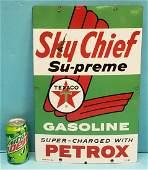 Texaco Sky Chief Porcelain Gas Pump Plate