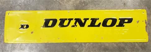 Dunlop Tires Embossed Sign