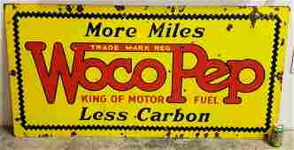 Woco Pep Double Sided Porcelain Sign