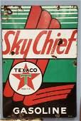 Porcelain Texaco Sky Chief Gas Pump Plate Sign