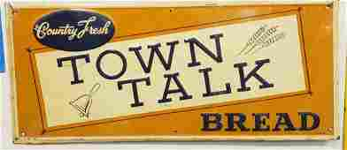 1956 Country Fresh Town Talk Bread Sign