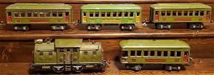 Lionel Engine 252,  Cars 610, 610, 610, & 612