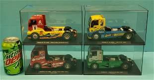 Lot of 4 MAN Fly GB Track Trucks