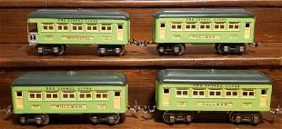 Lot of 4 Lionel Cars 607 and 608
