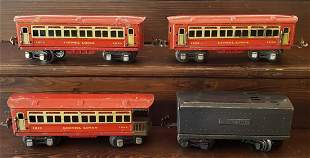 Lionel cars 1690, 1690, 1691, & Tender 01689W