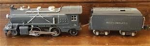 Lionel Locomotive 249 and tender 265w