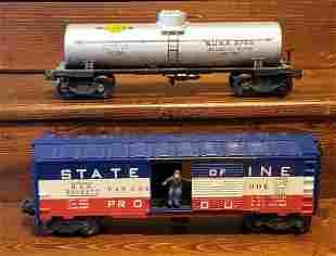 Lionel 3494275 B.A.R. & 2755 Sunoco Tanker