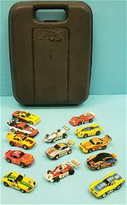 Aurora AFX Slot cars with Race Case plus Tyco