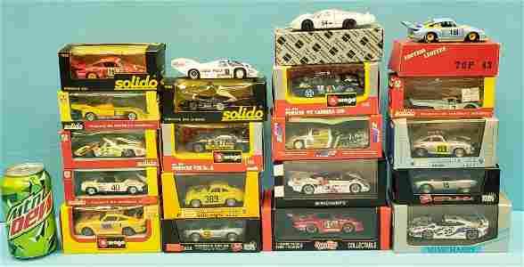 20 Porsche Model Cars 1:43 Scale