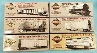 Lot of 6 Proto 2000 Series HO Scale Model Train Cars