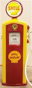 Restored Bennett Shell Gas Pump