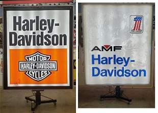 Harley Davidson AMF Double sided Lexan Dealership Sign