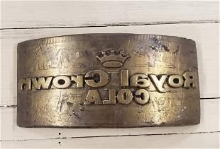 Royal Crown Cola Brass Embossed Stamp