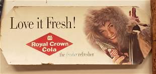 Love it Fresh Royal Crown Cola Cardboard Sign