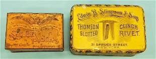 Seidlitz Powders Edwin B Stimpson Son Tins