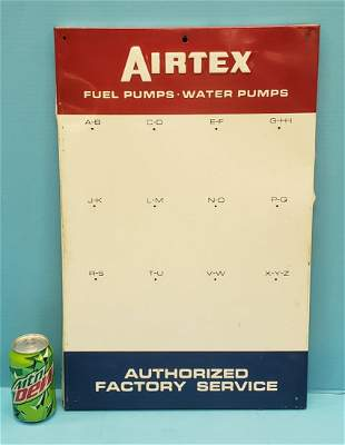 Airtex Fuel Pumps Water Pumps Key Holder Tin Sign