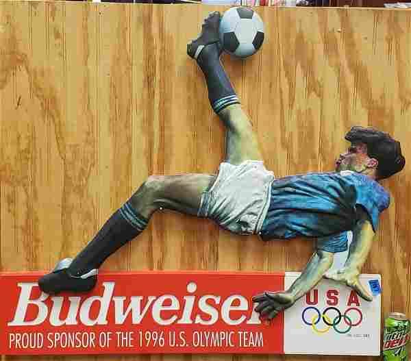1996 Budweiser Olympic U.S. Team Soccer Sign