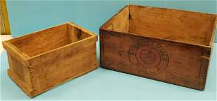 Arm Hammer and Cape Cod Cranberries Wood Boxes
