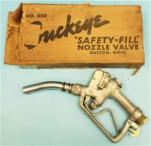 1950 NOS BuckeyeOPAC Safety Fill Gas Pump Nozzle