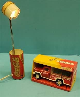 Coca Cola Buddy L Truck Telescoping Can Desk Light