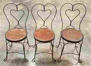 3 Antique Ice Cream Parlor Chairs