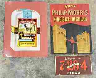 Lot of 3 Tobacco Signs