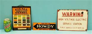 Lot of 3 Signs