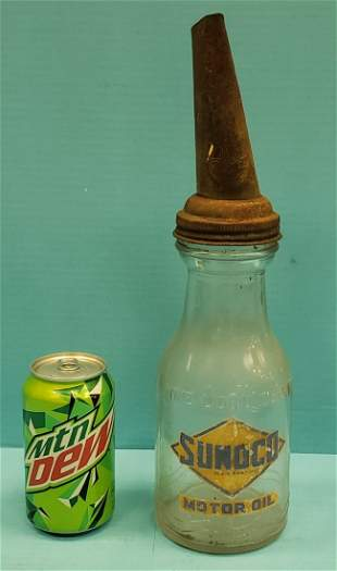 Sunoco Oil Bottle with Jay B Rhodes Co.