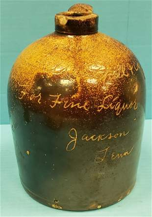 Whiskey Stoneware Jug Jackson Tenn