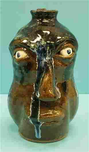 Kurt Hewell Face Jug Southern Folk Pottery