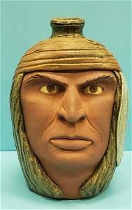 Melvin & Dwayne Crocker Indian Face Jug