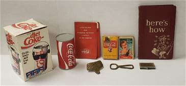 Vintage Coca Cola Lot - Playing cards, Openers, Radios